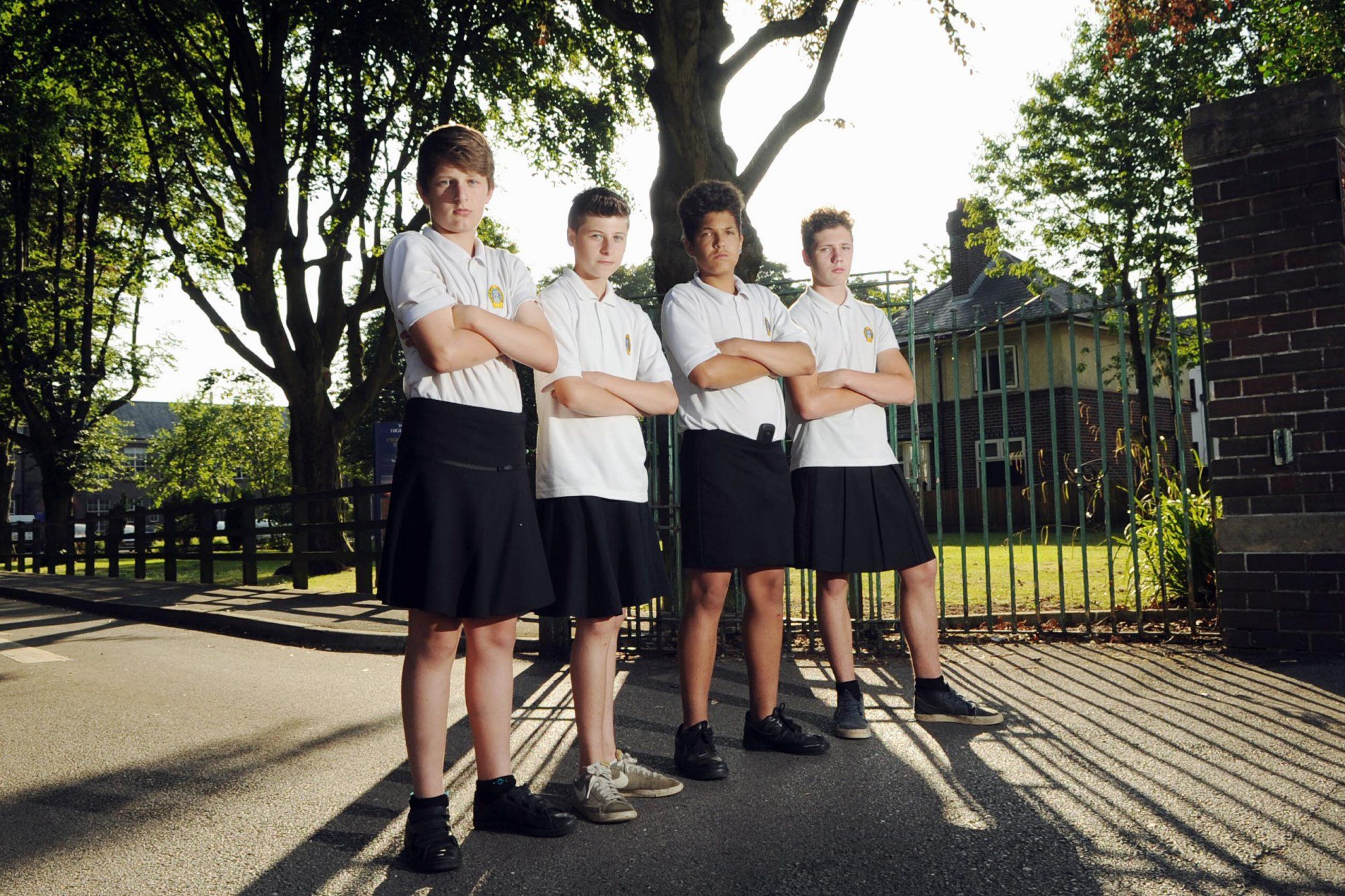 Welsh Boys Wear Skirts In Protest Of High School Dress