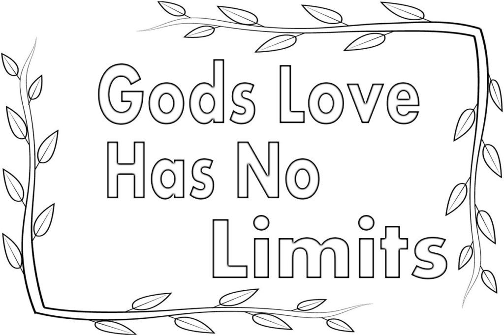 God S Love Has No Limits Coloring Page Love Coloring Pages Gods Love Bible Coloring Pages