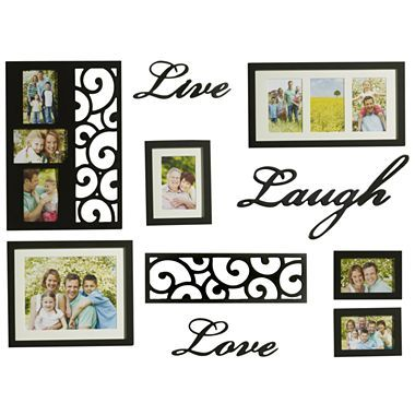 Oxford 10 Piece Word Picture Frame Set Jcpenney Frame Wall Decor Framed Wall Art Sets Wall Decor Set