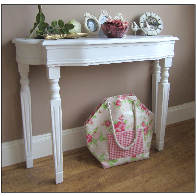 Fresh hallway WHITE AGED CONSOLE TABLE DRESSING TABLE French Vintage Photos - Minimalist antique white sofa table Pictures