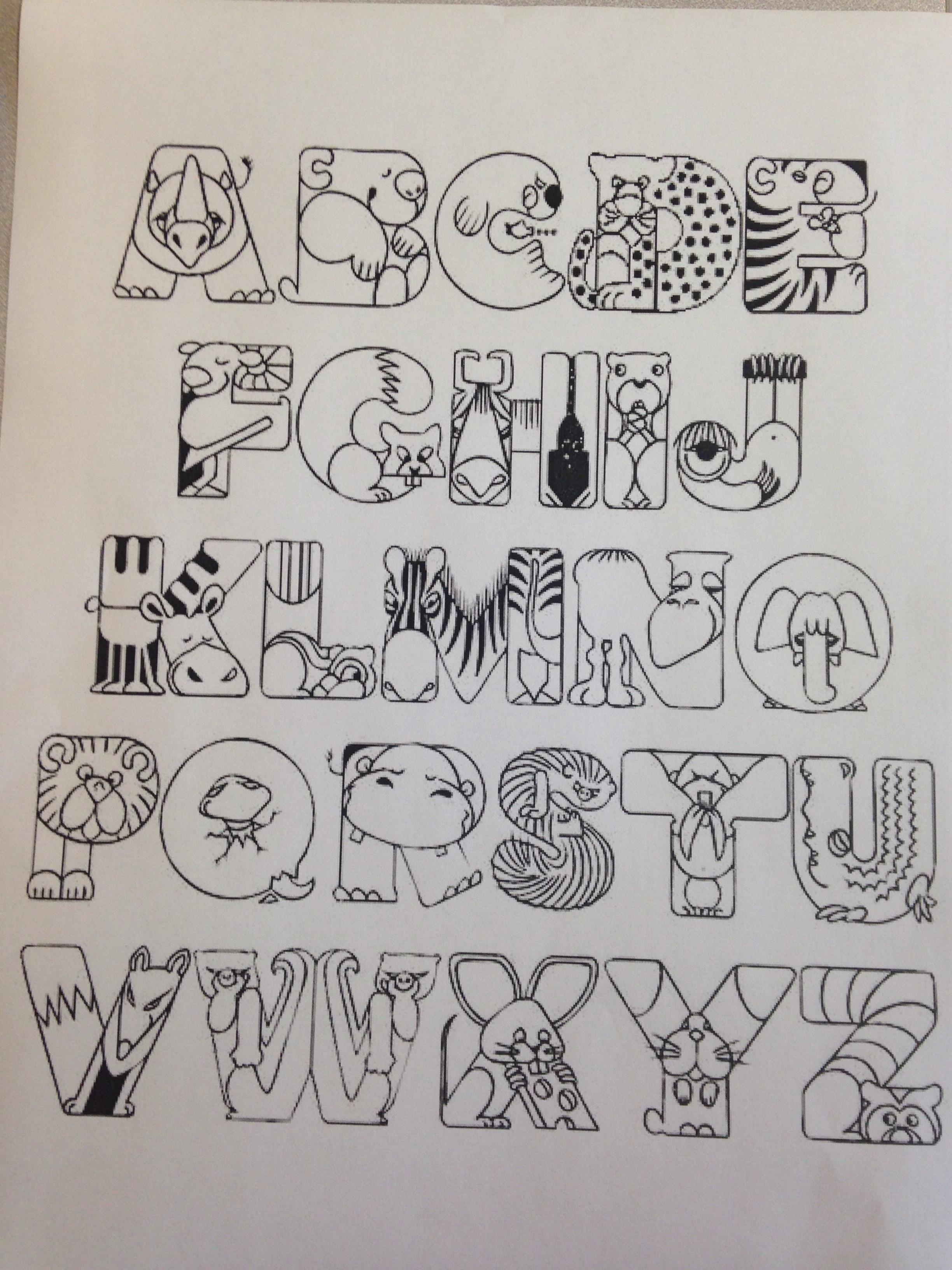 These Animals Do Not Even Start With The Letters They Represent Dieren Alfabet Alfabet Kleurplaten Brief