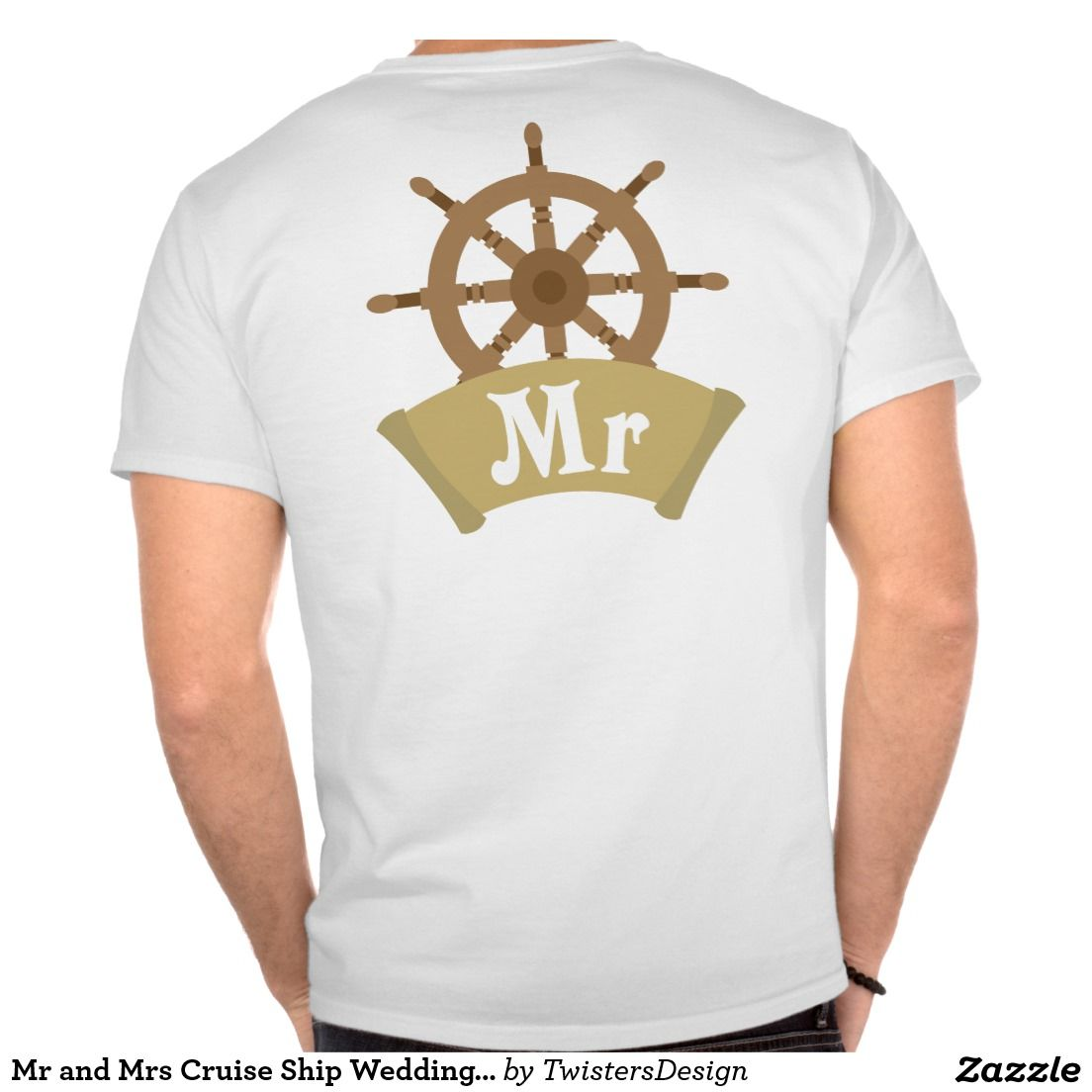 Mr And Mrs Matching Cruise Ship Wheel Wedding And Honeymoon T Shirts