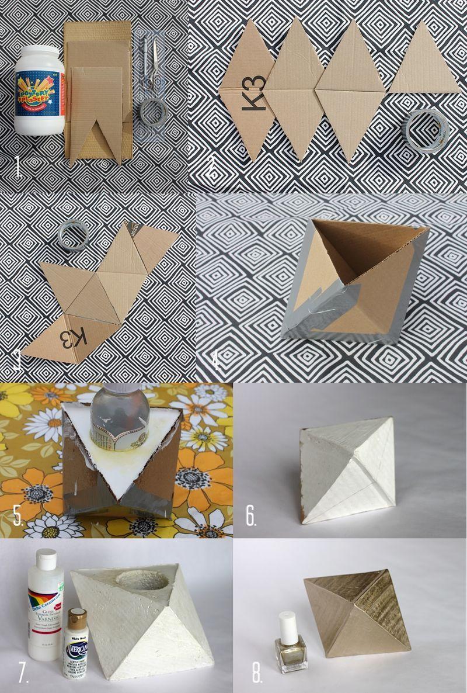 Geometric concret DIY