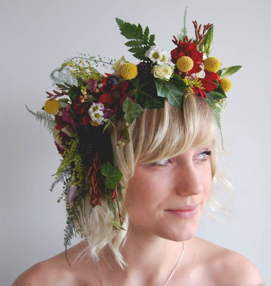 Real flower headpiece halo circlet flower crown anemones real flower headpiece halo circlet flower crown izmirmasajfo