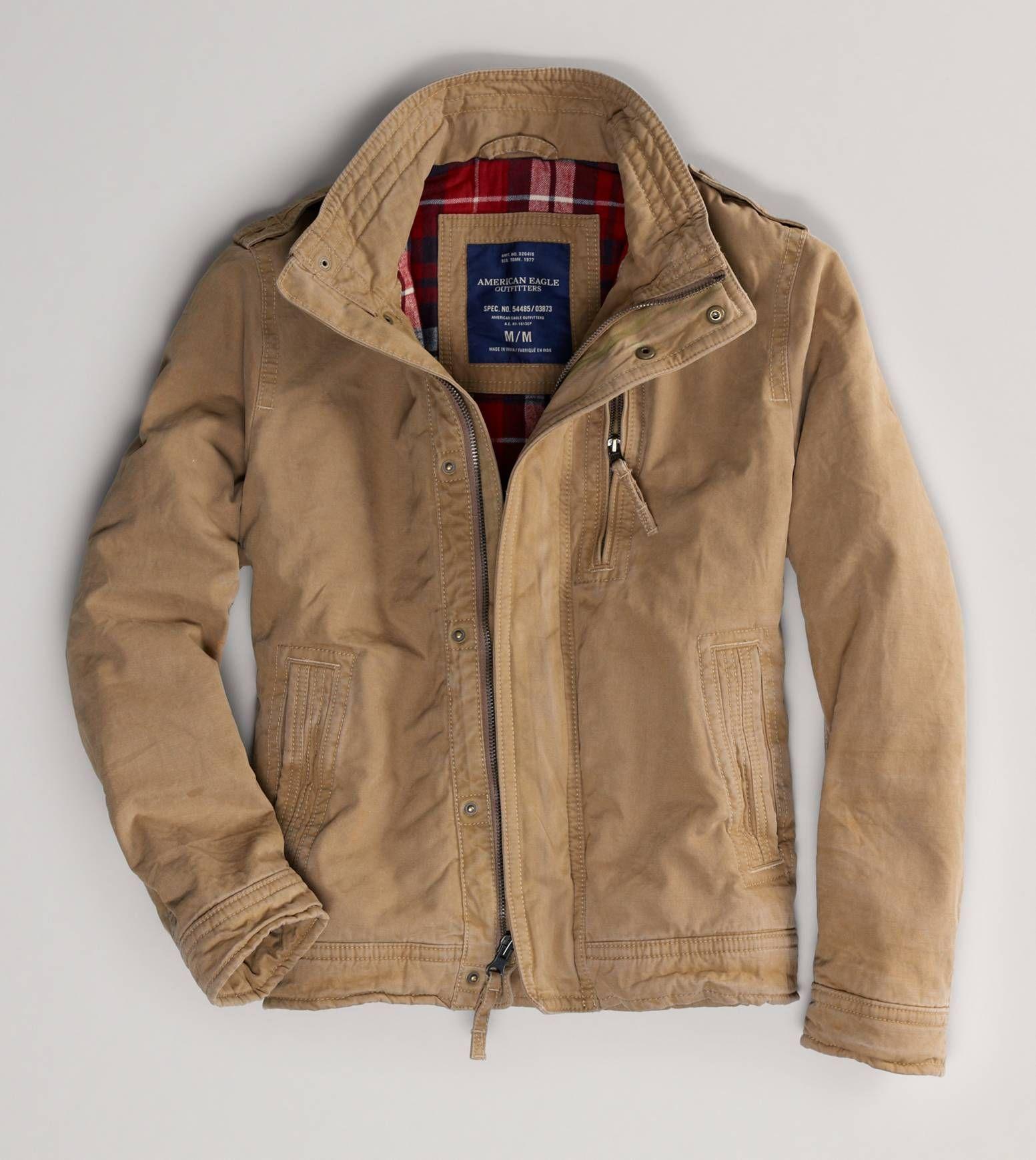 2e5fde65566 AE Waxed Trench Coat