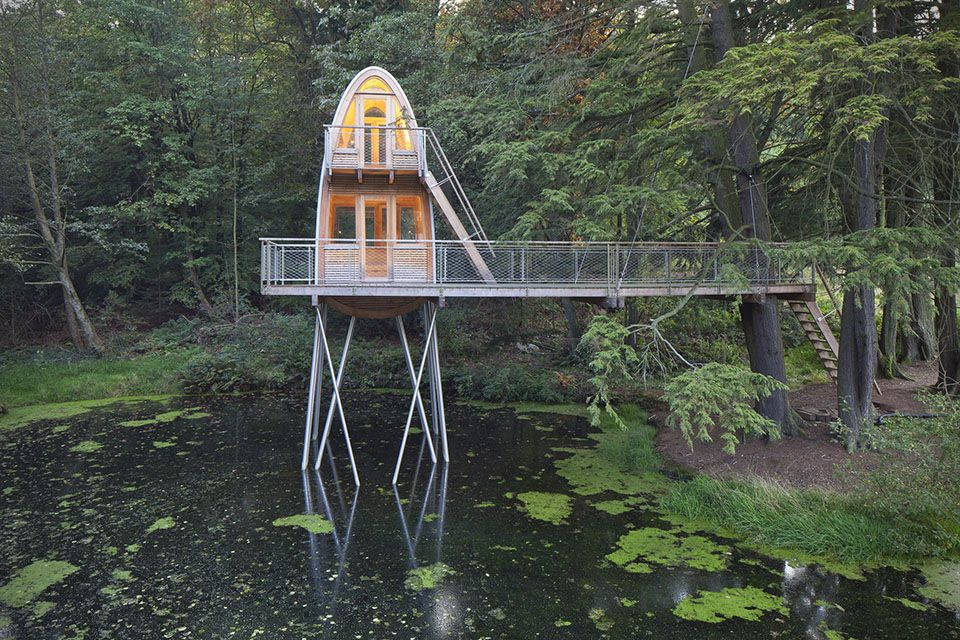 Get to Know More About the Pond Tree House Ulsar Germany