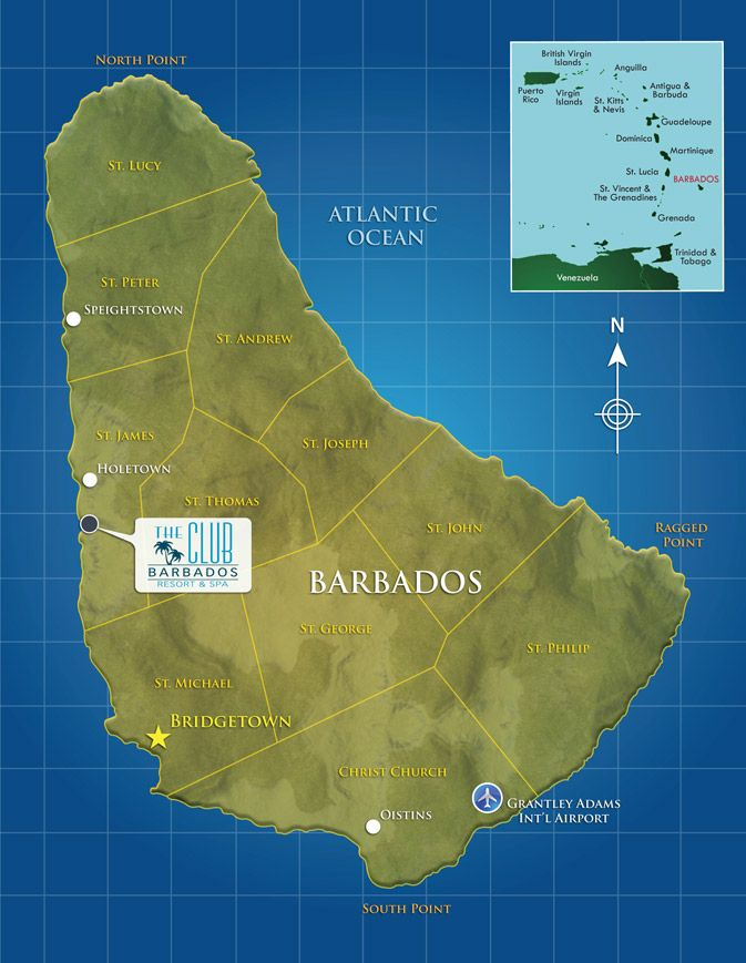 Map of Barbados Oh The Places You Can See With Wonderful World
