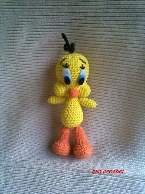 Tweety - Free Amigurumi Pattern here: http://zancrochet.blogspot.co ...