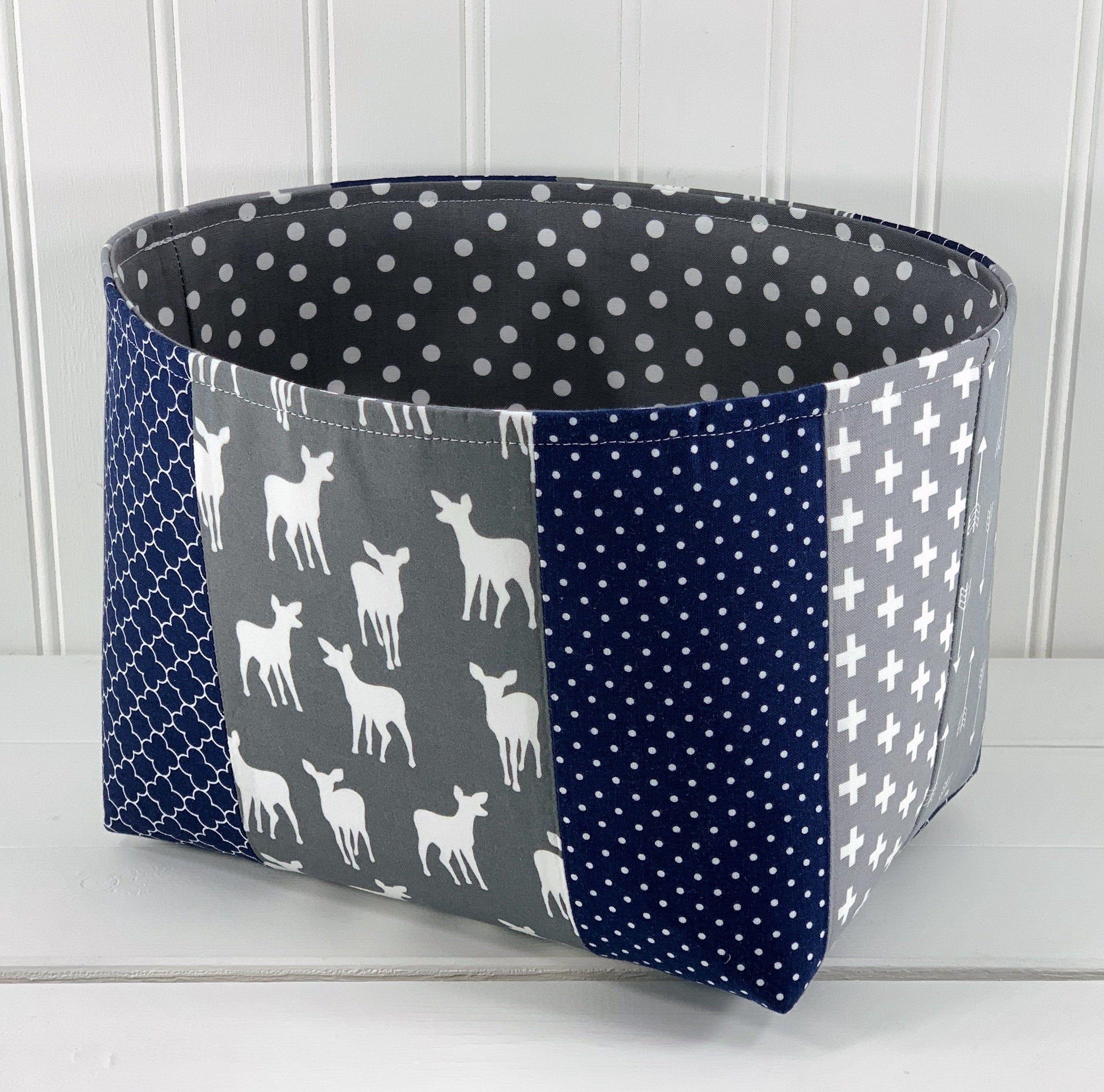Woodland Nursery Decor Storage Basket Fabric Storage Bin