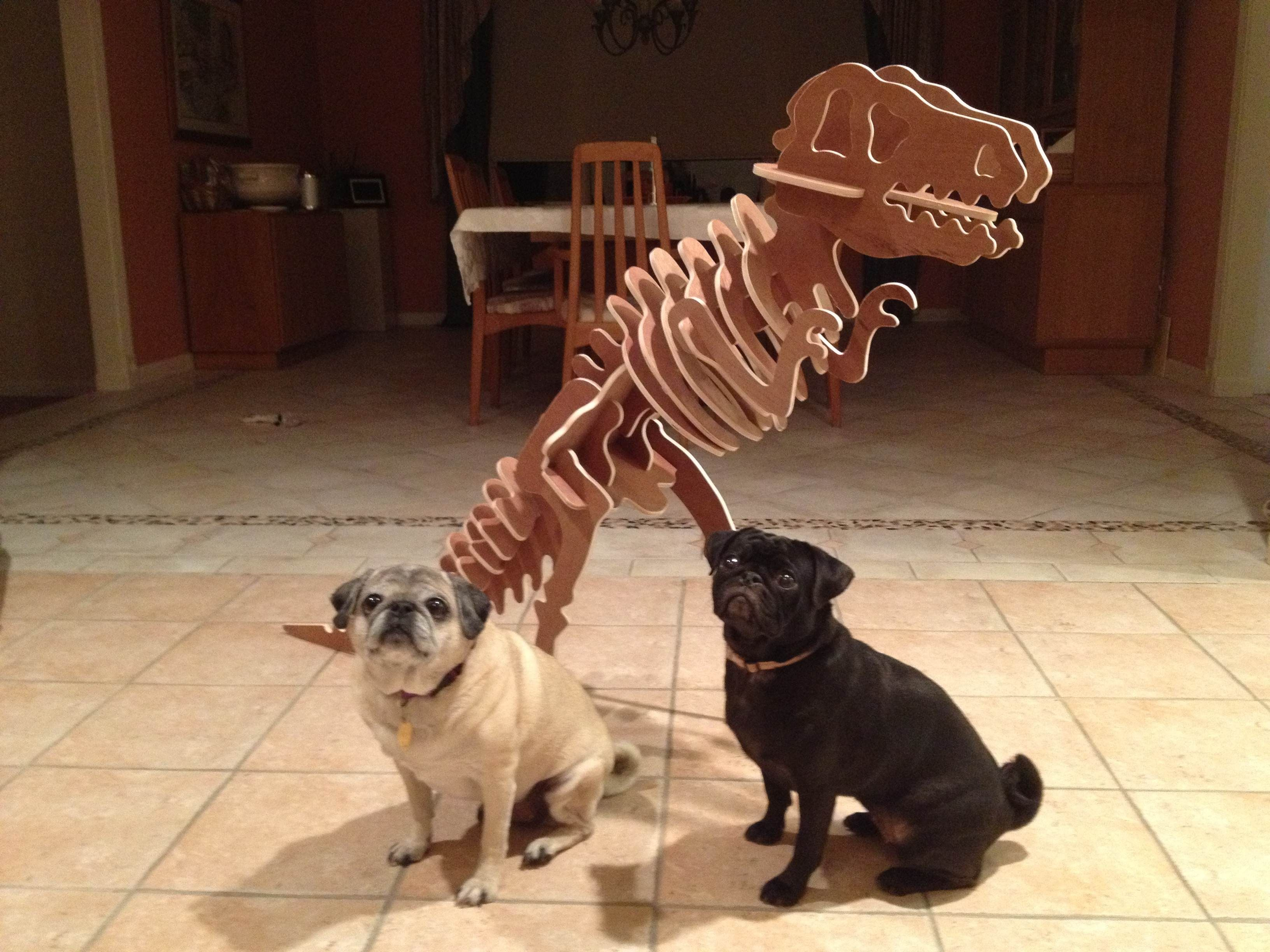 visit www.makeCNC.com to purchase this pattern Gigantic T-Rex and 2 Very Adorable Pups :)