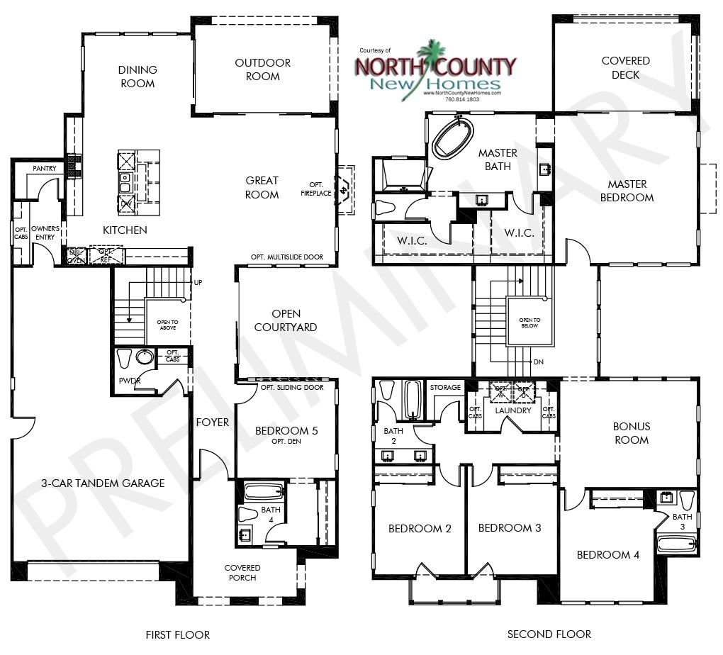 See 3 Portofino Floor Plans With Bedrooms. New Homes In Carmel Valley,  Pacific Highlands Ranch, San Diego. New Construction Homes.