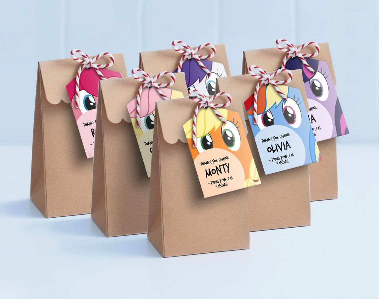 My Little Pony Lollie Bag Tags Printable Loot Labels Gift Pinky Pie Rainbow Dash More By