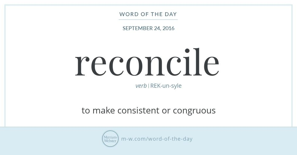 Word Of The Day Reconcile