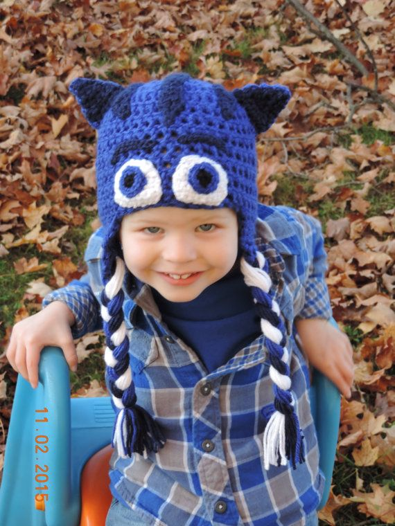 PJ Masks Catboy Crochet Inspired Hat by HammAndSmith on Etsy ...