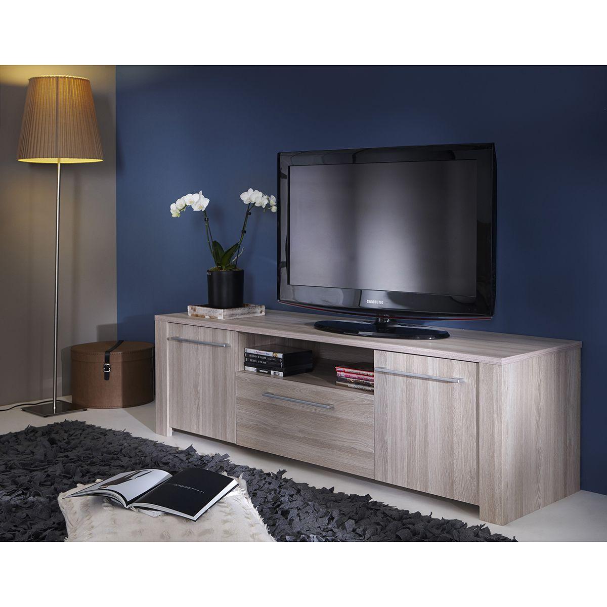 Meuble Tv 2 Portes 1 Tiroir Tati Meuble Tv Pinterest  # Meuble Tv Tati