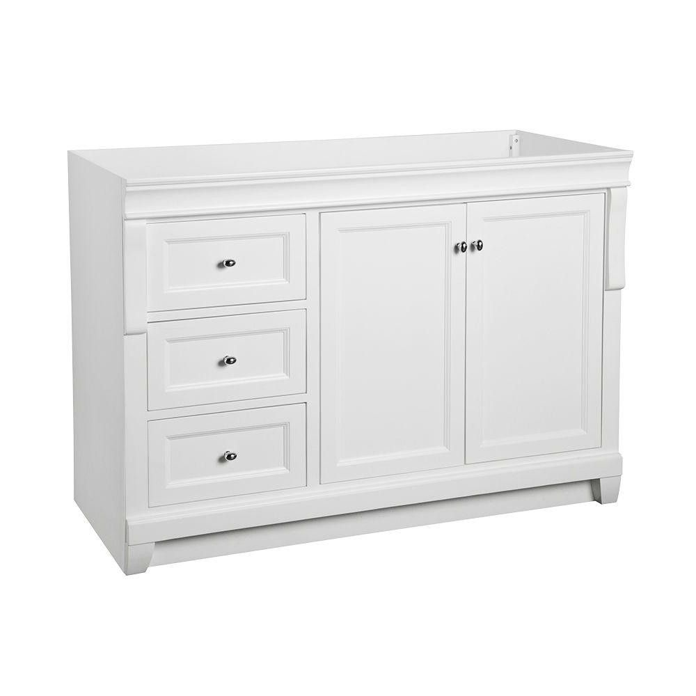 foremost naples 48 in w bath vanity cabinet only in white from 48 ...