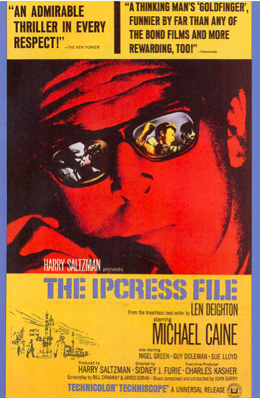 The Ipcress file Michael Caine vintage movie poster
