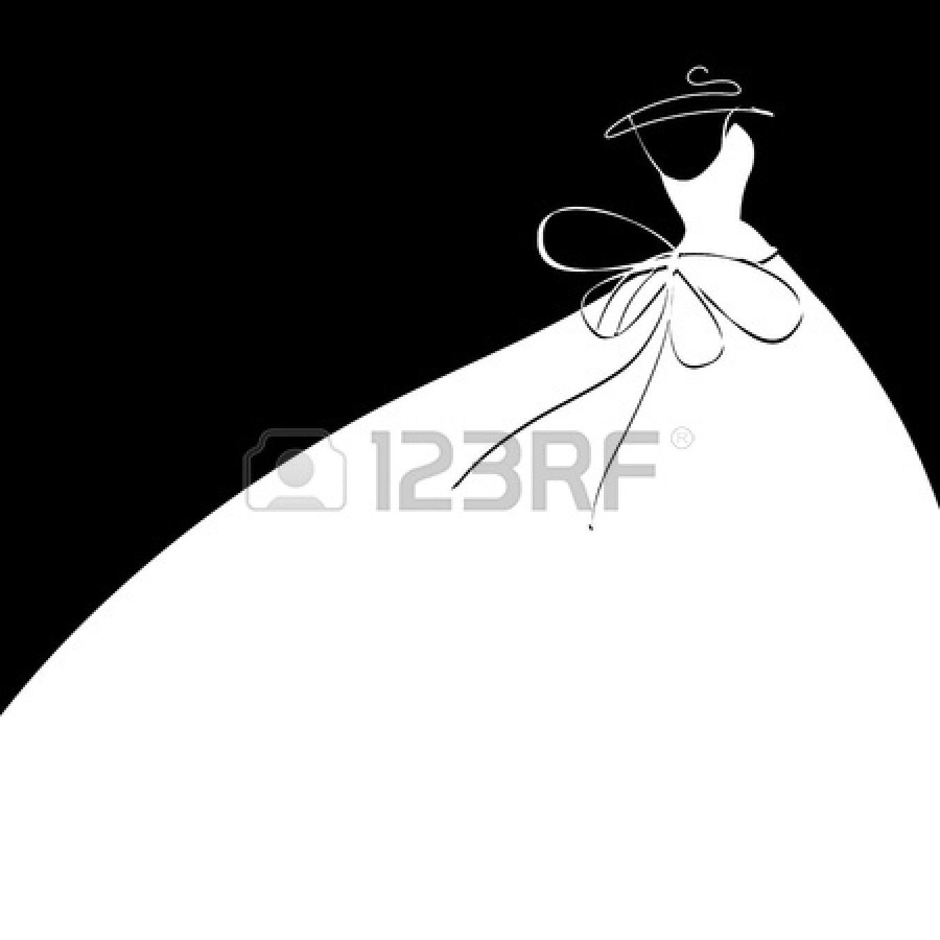 Dress+Outline+Clip+Art | ... Dress Clip Art Showing Pic Gallery For Wedding Dress Clipart Outline