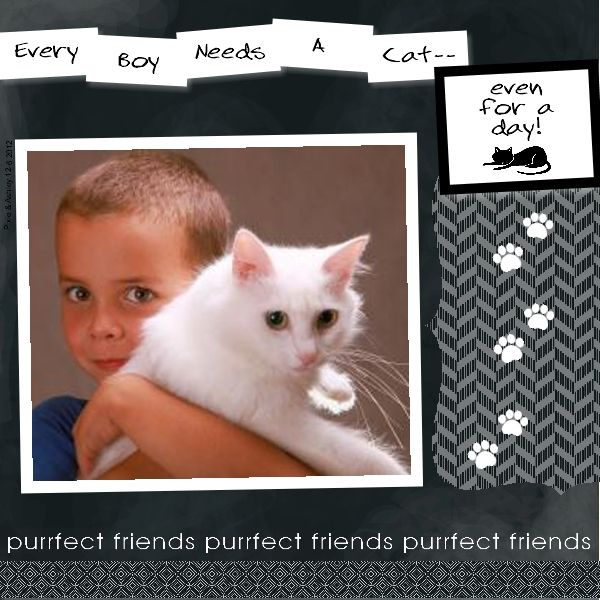 Cat/Pet scrapbook layout designed with My Digital Studio software from Stampin' Up!