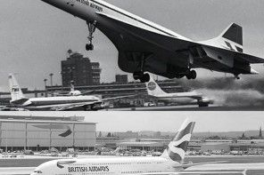 From the iconic Concorde to the massive Airbus A380 here are four decades of British Airways in pictures