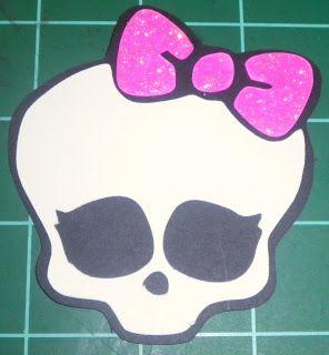 Monster High Skull Svg Scut2 Cricut Crafting Pinterest Monster