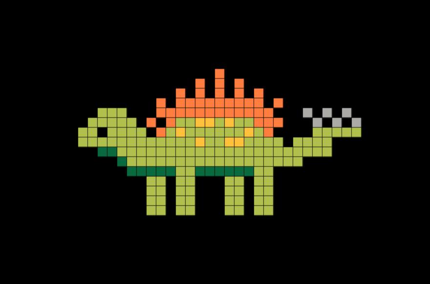Dinosaur Pixel Art Pixel Art Art Diy Perler Beads