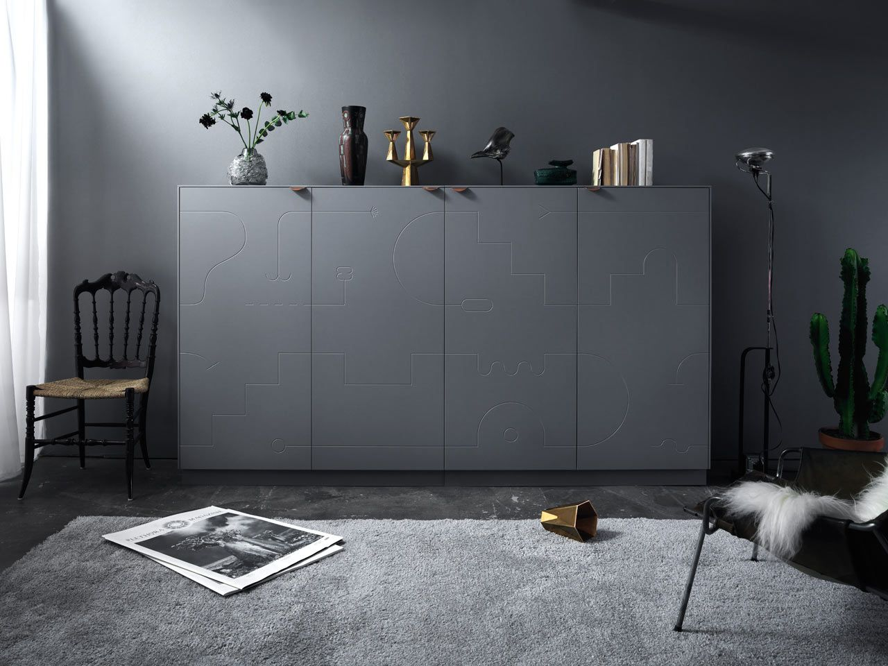 superfront will elevate a basic ikea sideboard with new fronts by swedish artist klas ernflo