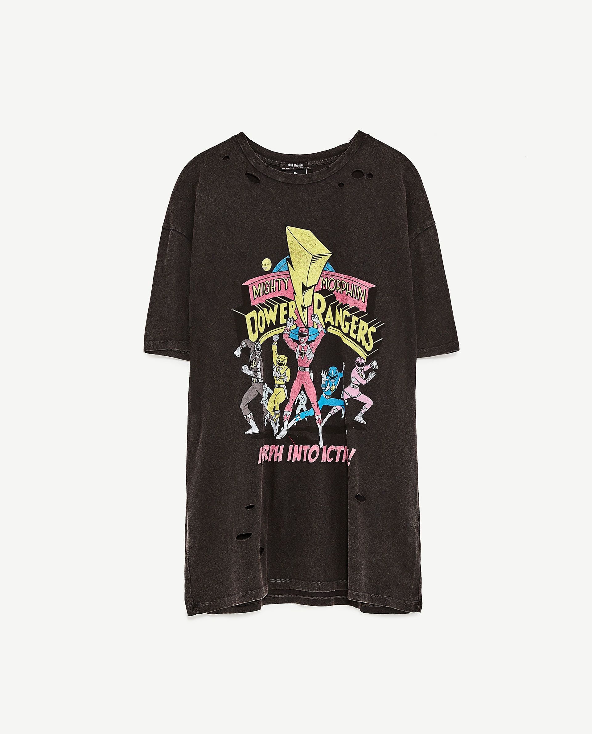 3e1a033b9c Image 8 of UNGENDERED POWER RANGERS T-SHIRT from Zara | 骷髅头 ...