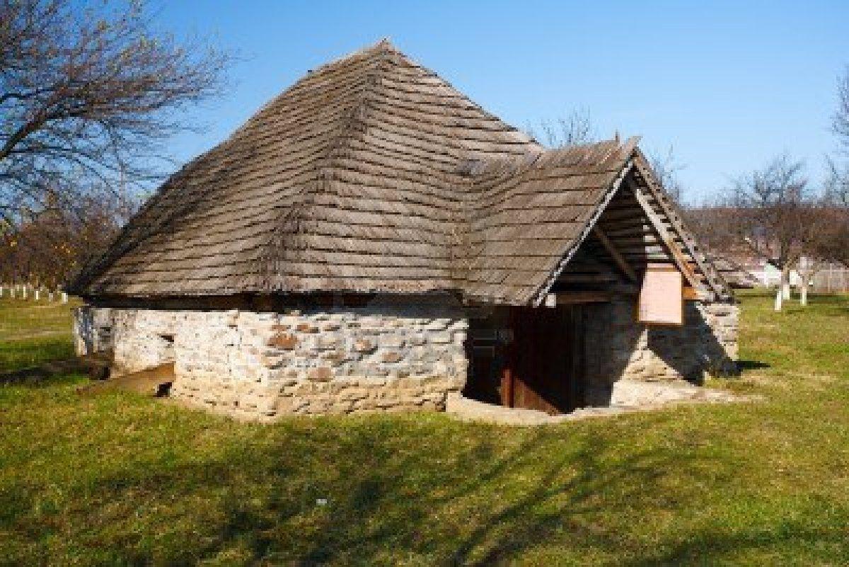Old traditional Romanian barn