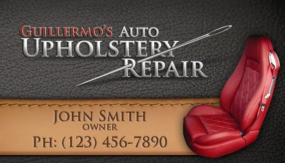 Graphic Design Upholstery Repair Business Card Design