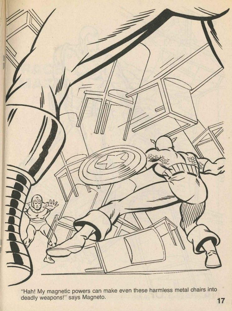 Pin On Marvel Super Heroes Secret Wars Coloring And Activity Book 1984