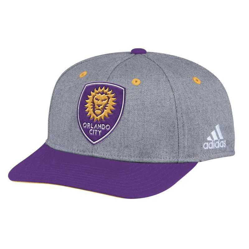 the latest ab826 381bf Orlando City SC adidas Two-Tone Structured Adjustable Hat - Gray Purple