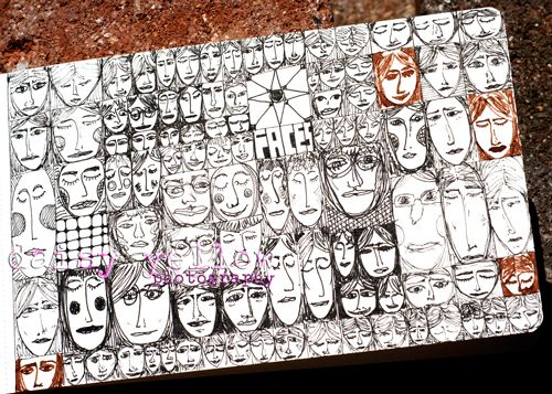 ASSIGNMENT: Create a grid and fill the grid with different faces using pen and ink. Or use some other theme, as long as it remains consistent. Explore the methods of pen and ink (crosshatch, scumble etc.)