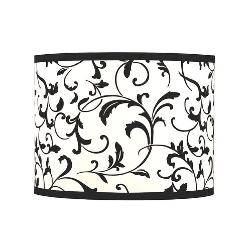 Drum Lamp Shade With Spider Embly