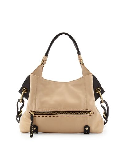 Marissa Studded Leather Satchel Bag, Black Multi - Oryany from Neiman Marcus on shop.CatalogSpree.com, your personal digital mall.