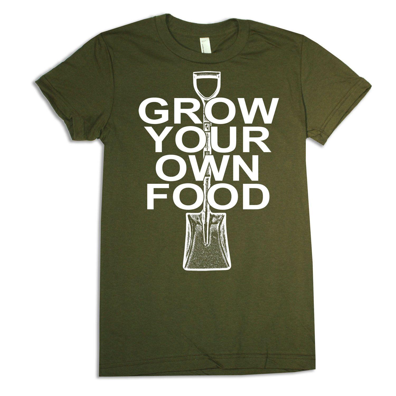 Womens GARDEN (grow your own food) american apparel t-shirt S M L XL ...
