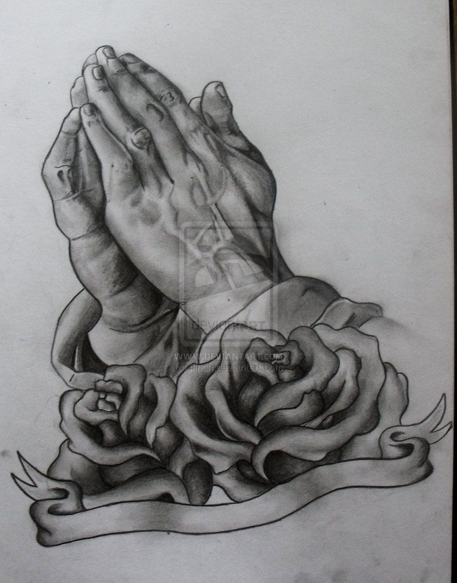 Prayer hands tattoos designs - Praying Hands Tattoo Design By Ifinch Designs Interfaces Tattoo Design