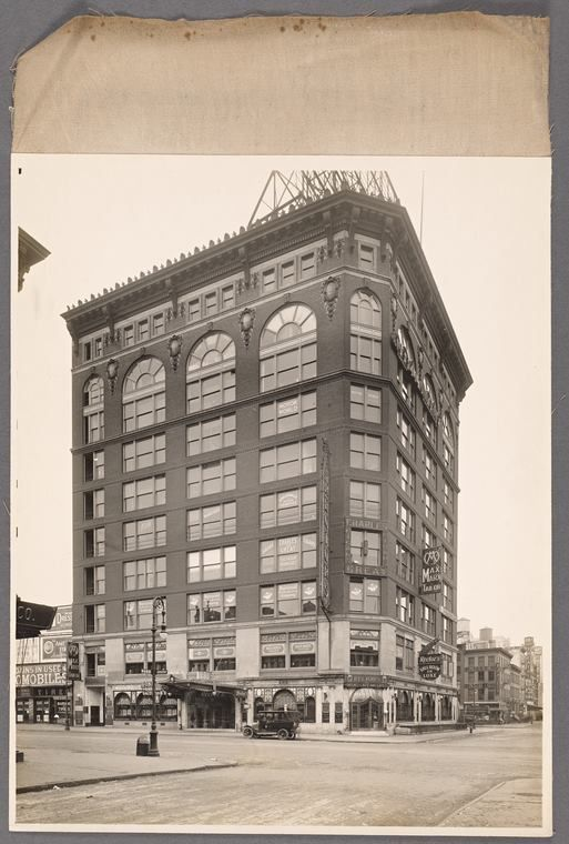 Studebaker Building 1914 1600 Broadway At West 48th Street Photo Morris Rosenfeld Collection New York Publi