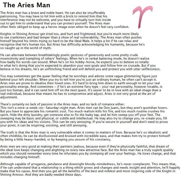 How to understand aries man
