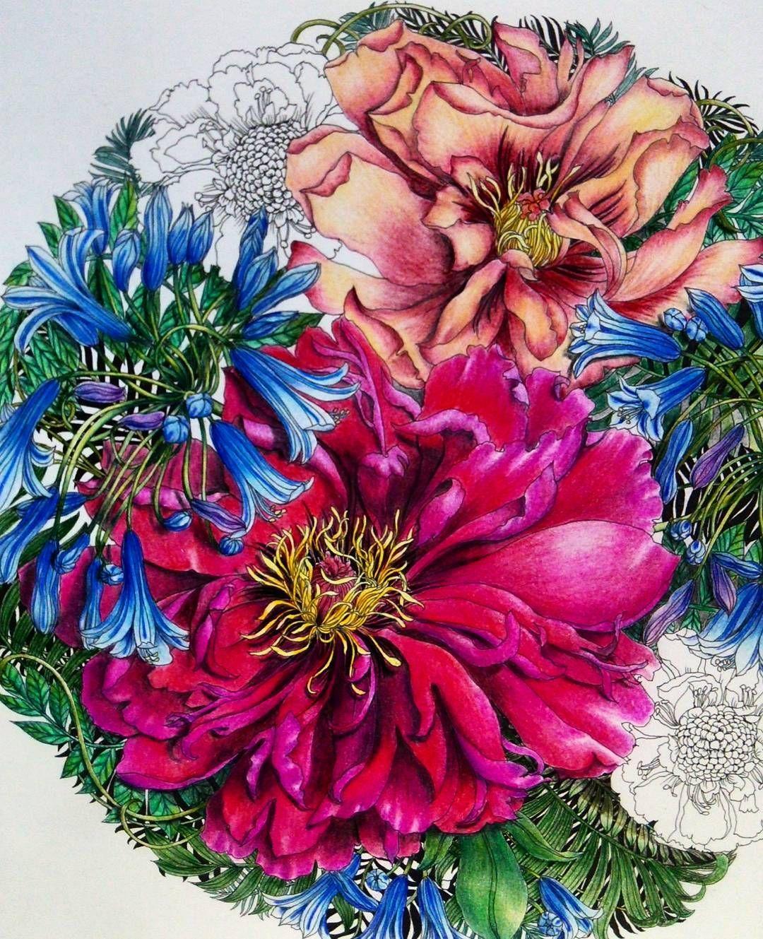 途中経過の記録です❤ | Inspirational Coloring pages | Pinterest ...