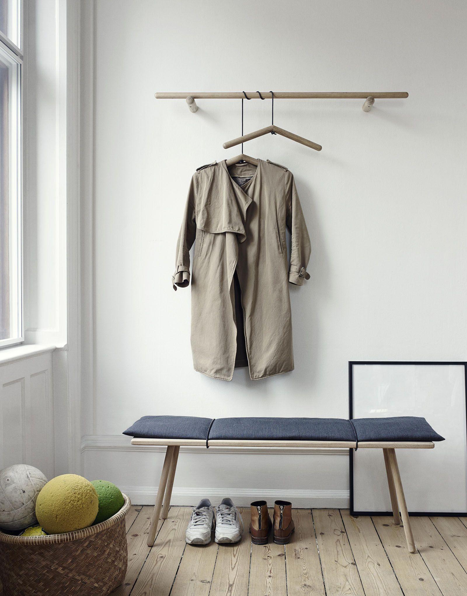 Hallway coat closet  Georg Bænk  Trip Trap  Eteiset  Pinterest  Interior Furniture