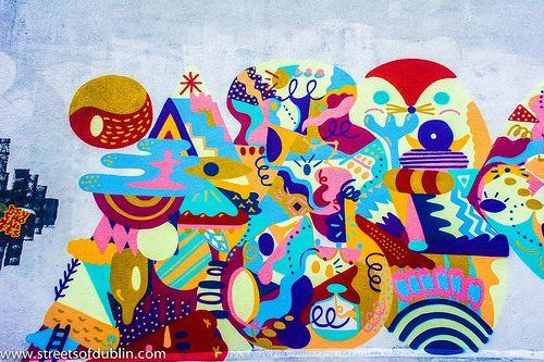 Street Art And Graffiti In Dublin Docklands