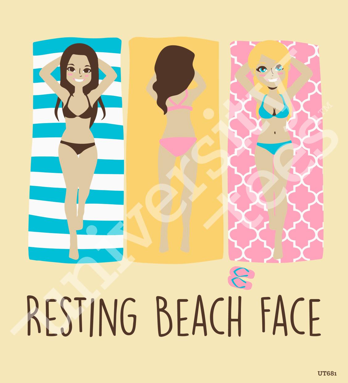 resting beach face i designed by university tees i