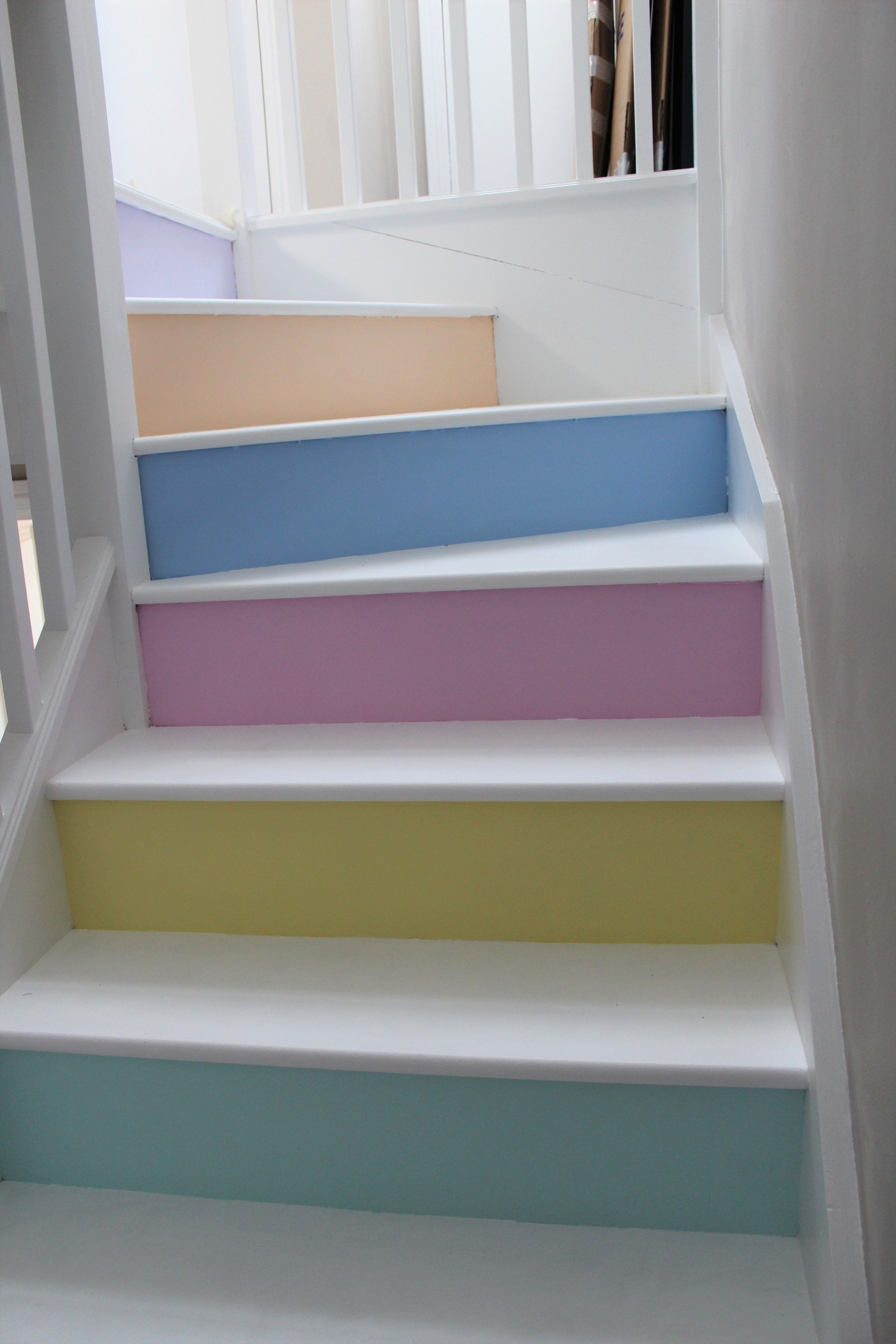 Pastel Home My Stairs White Rustoleum Chalky Floor Paint On