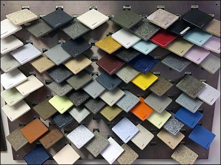 Corian Tip On Tile Sample Display Sample Swatches Pinterest