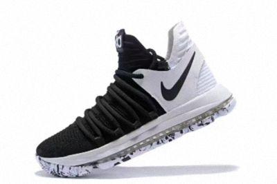c09ae38cb524a Nike Zoom KD X 10 Black White 2018 Mens Basketball Shoes 897815-008 ...