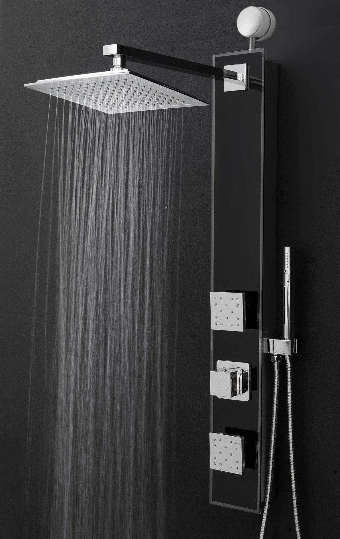 Rain Shower Head And Handheld.Diverter Rain Shower Head Shower Panel With Massage Function