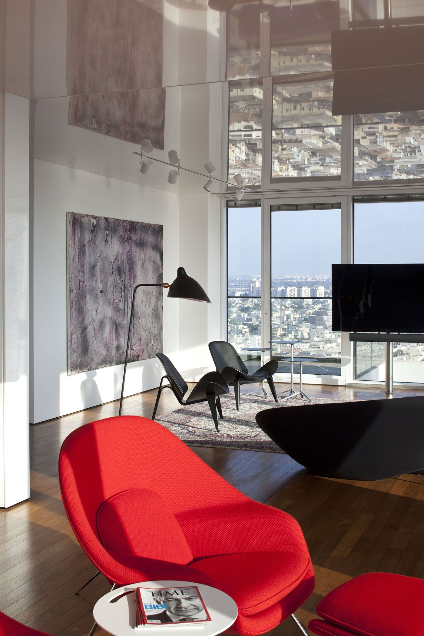 Beau R1T Apartment By Partizki. Womb ChairRed ChairsLounge ChairsArchitecture ...