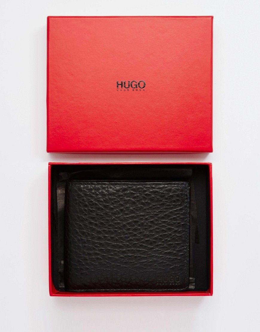 9c5ac7758294 Mega seje Hugo Boss Pebble Leather Billfold Wallet - Black Hugo Boss Punge  til Herrer til hverdag og fest