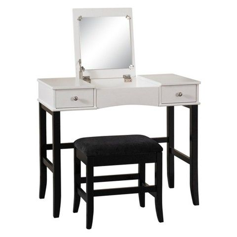Vanity Black White Linon Home Decor Vanities College Furniture